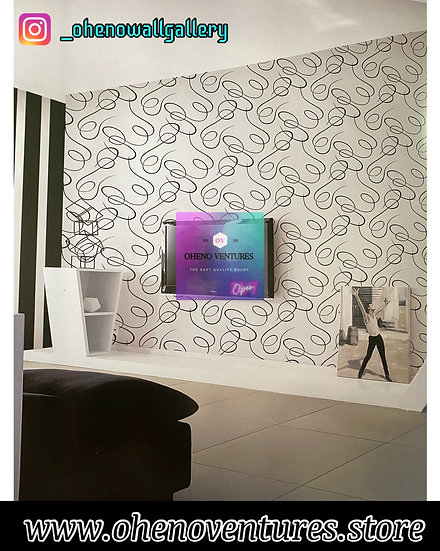 Silver black zebra lined 3D wallpaper design