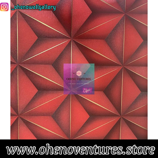 Red Hexagonal Silver 3d design