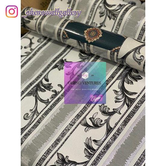 Silver designed wallpaper design