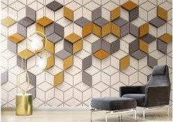 Mixed hexagonal wallpaper design