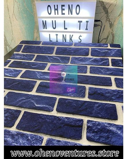 Blue brick wallpaper design