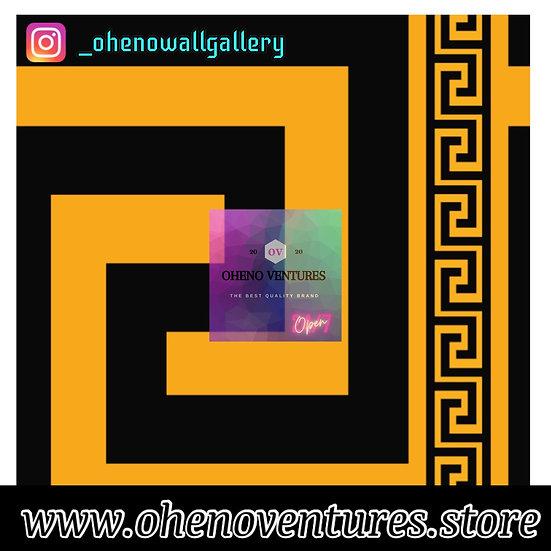 Black and yellow Versace wallpaper design