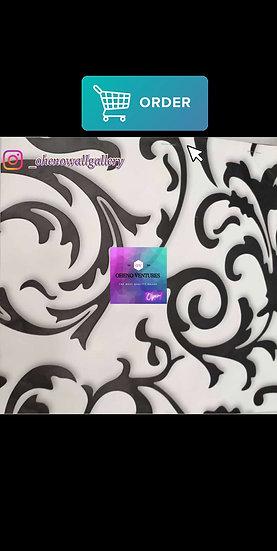 White Flowered 3D wallpaper design