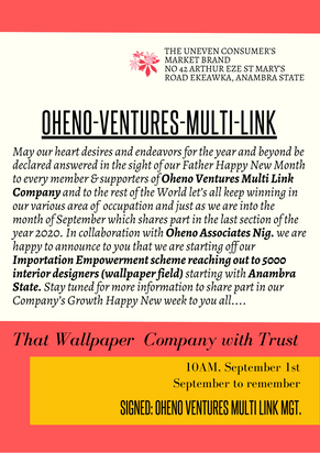 Oheno Ventures Entrepreneur Network Forum