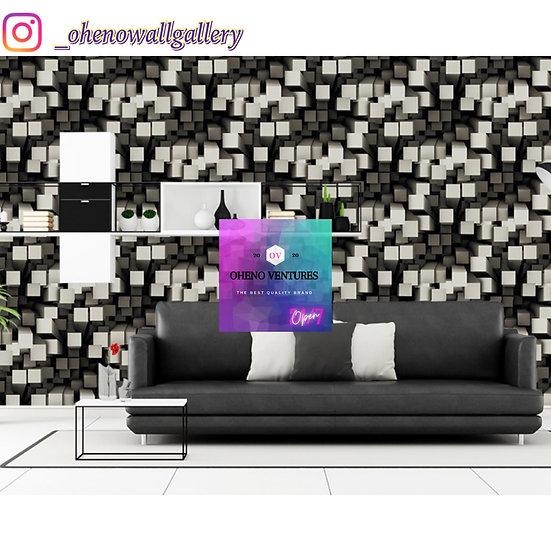 Ashes white 3D wallpaper design