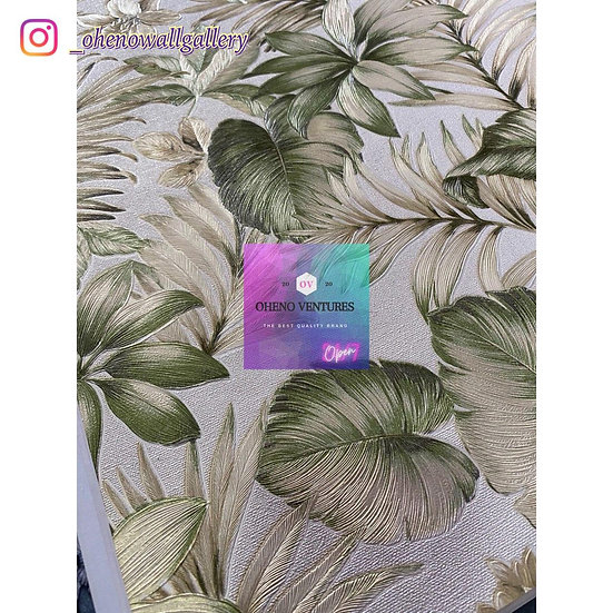 Satin green flower design