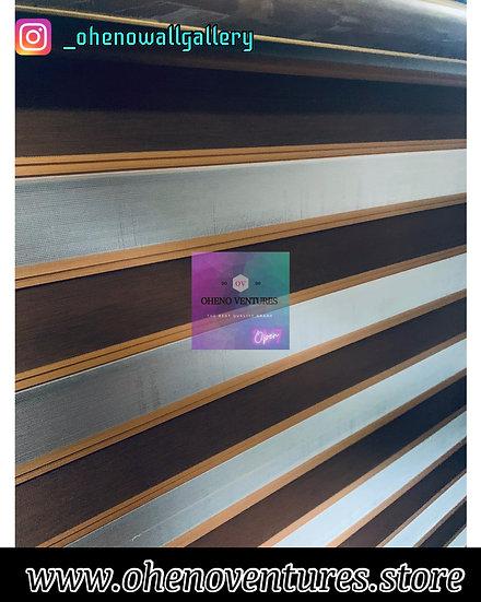 Brown & Gold Plain Designed Window Blind