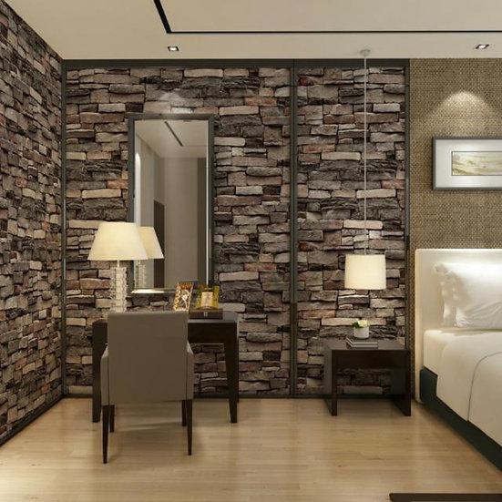 3D ash bricks wallpaper