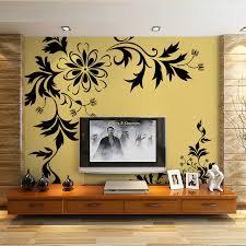 Light flowered gold wallpaper