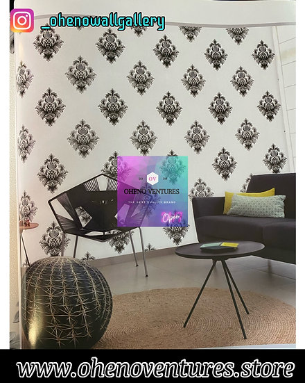 Royal Black flowered 3D wallpaper deigns