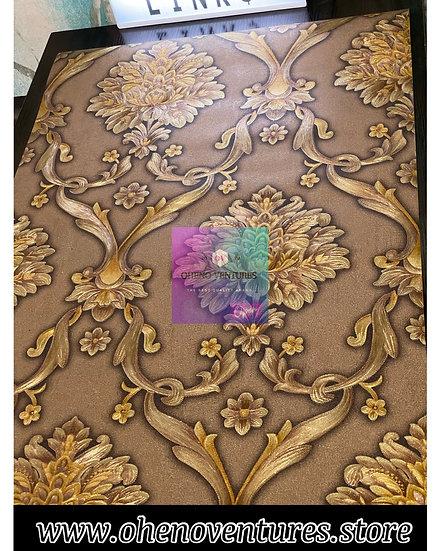 Dark Brown Gold Wallpaper Design