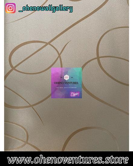 3D Gold Zebra lined wallpaper design