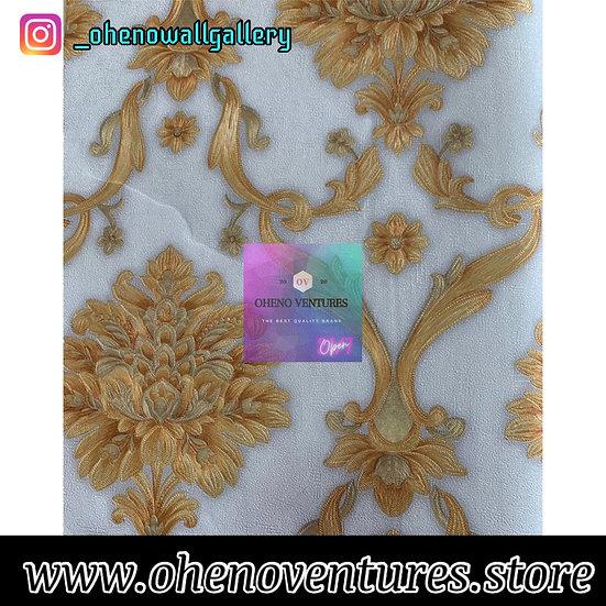 White gold 3D flower design