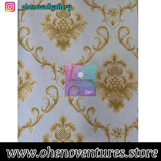 3d Gold Blue background wallpaper design