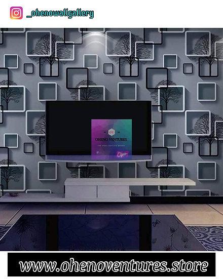 Grey colour 3d tree box design