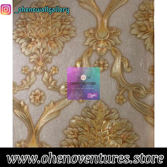 3d Gold flower wallpaper design