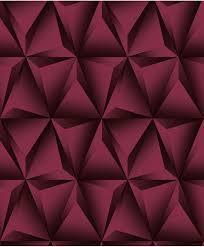 3D red pyramid wallpaper design