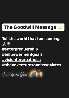 The Goodwill Message ⭐️