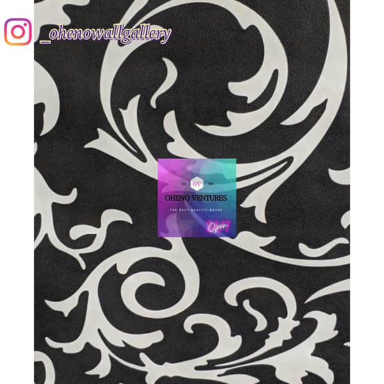 Black flowered 3D wallpaper design