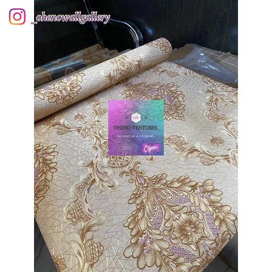 Gold hexagonal royal flower design