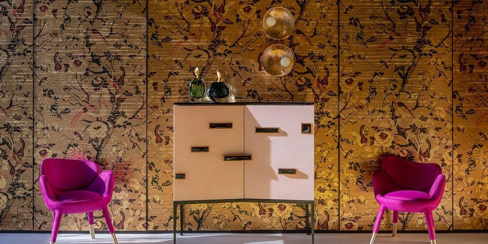Leaved gold 3d wallpaper design
