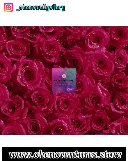 3d Rose flower wallpaper design