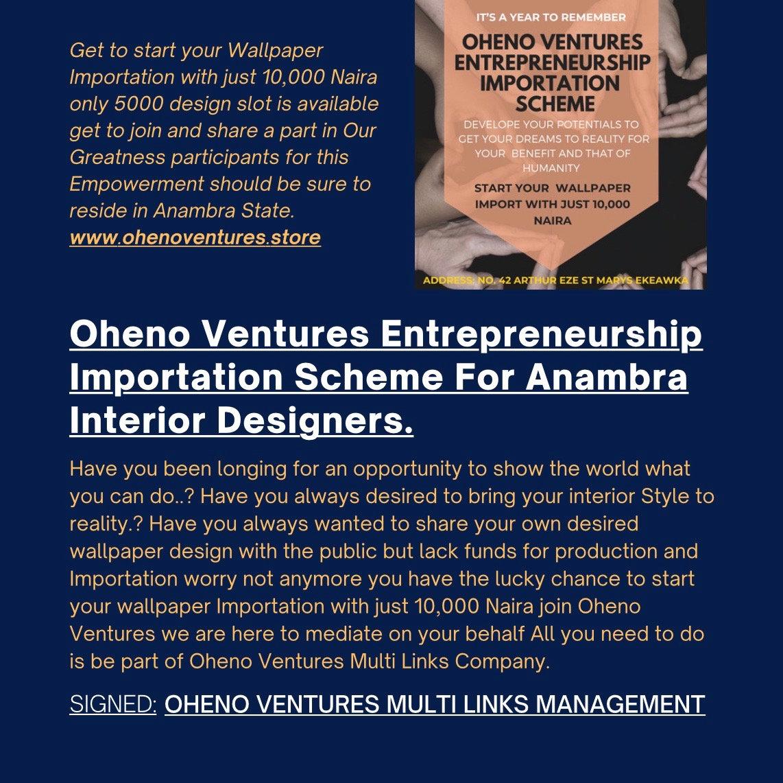Oheno Ventures Entrepreneurship Scheme