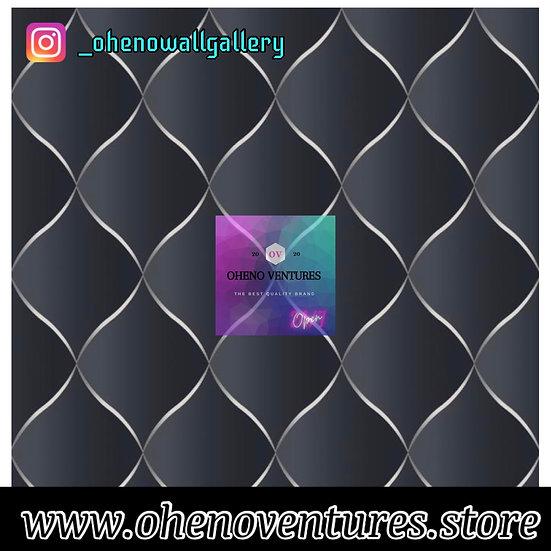 Black silver 3D wallpaper design