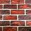 Thumbnail: 3D red bricks wallpaper design