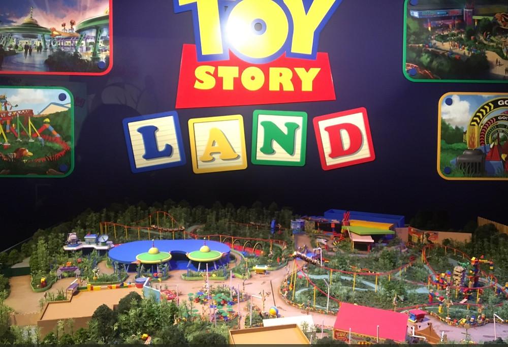 Maquete de Toy Story Land