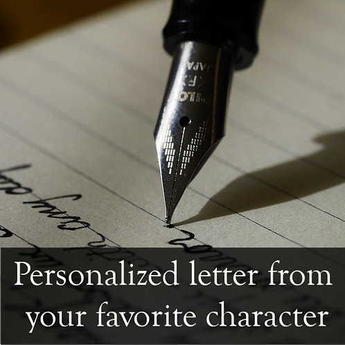 Personalized etter from your favorite characterl
