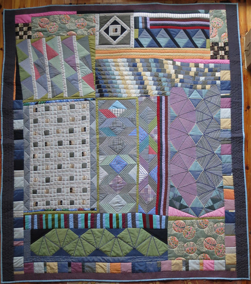 Strata Quilt - private collection 6' X 7