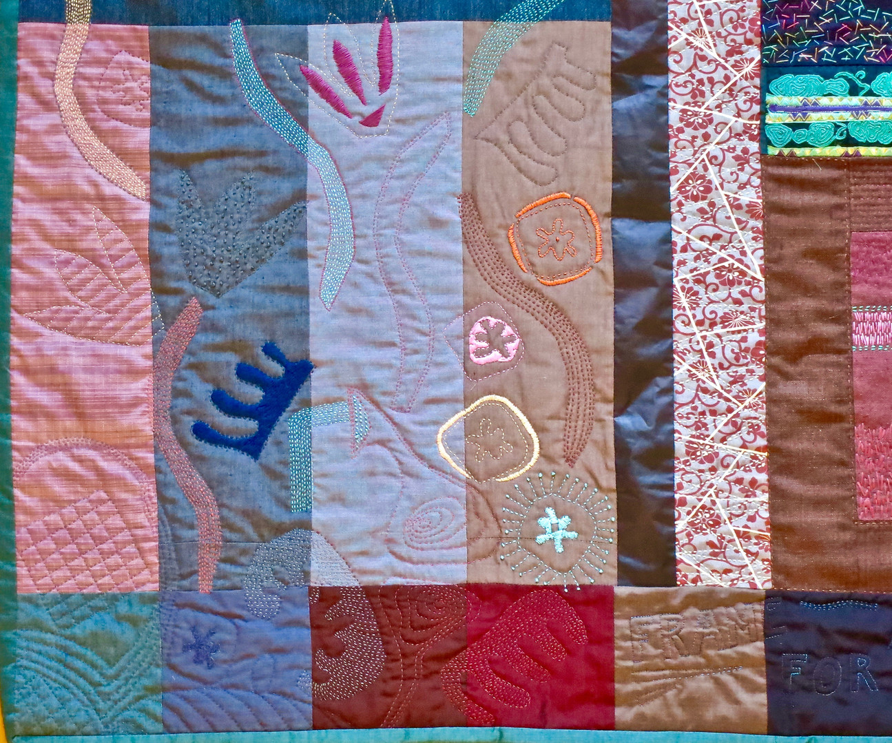 Frame for a MAIO embroidery Quilt detail