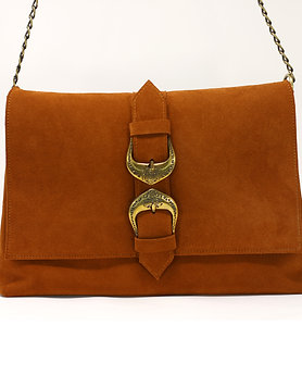 Aelia - Suede Leather Clutch