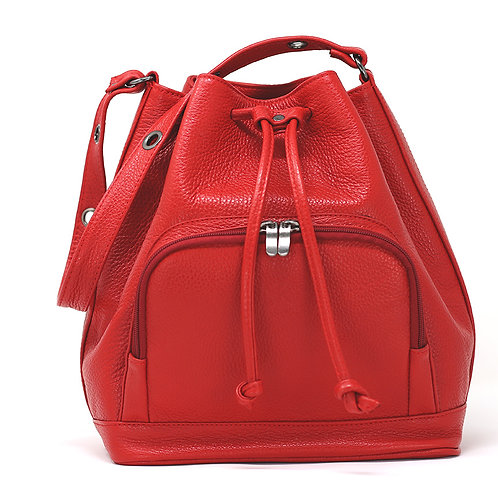 Nina Red - Crossbody Leather Bag
