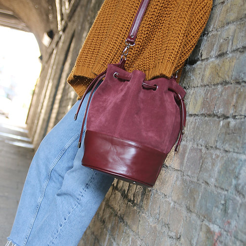 Mia Burgundy- Crossbody Bag