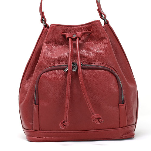 Nina Burgundy - Crossbody Leather Bag