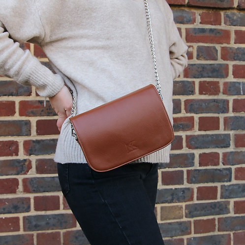 Nia Brown- leather Beltbag