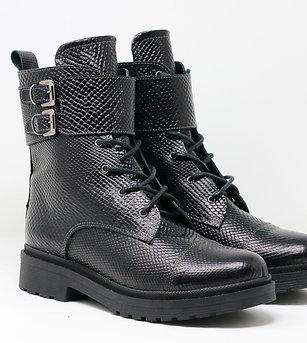 Hera - Leather Biker Boots
