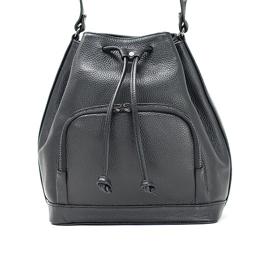 Nina Black - Crossbody Leather Bag