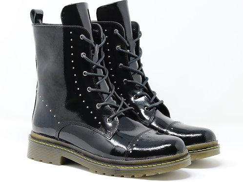 Nina - Leather Biker Boots