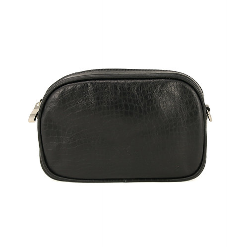 Sally Black Croco- Leather Beltbag
