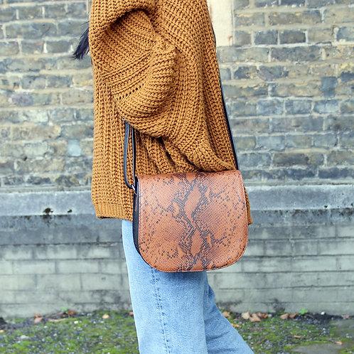 Haeley Brown- Crossbody Leather Bag