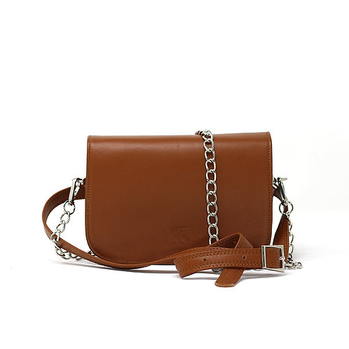 Nia Brown- leather Beltbag