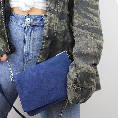 Sandy Blue Sueda - Crossbody bag