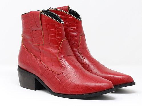 Selene - Leather Biker Boots