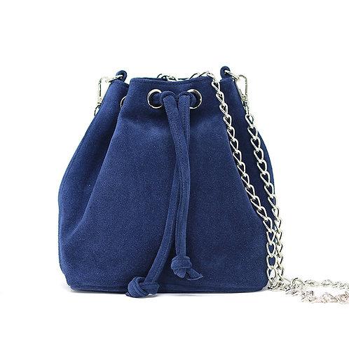 Kira Blue Black- Suede Crossbody Bag