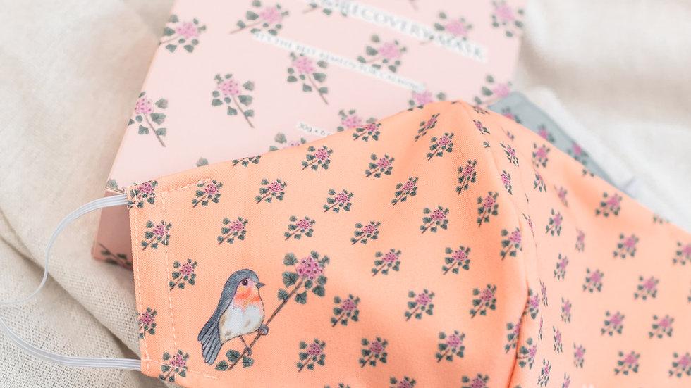 Bird in paradise圖案布口罩套