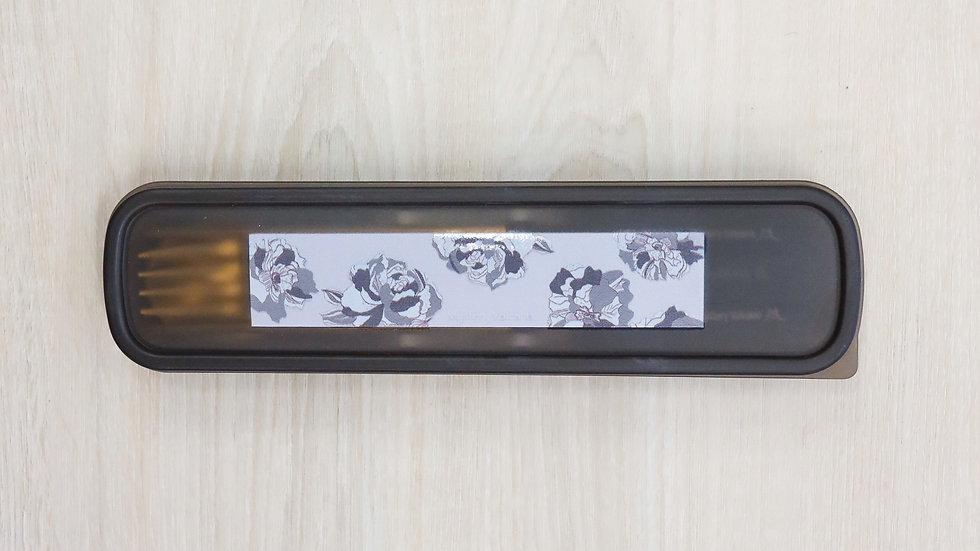 經典花卉黑金餐具
