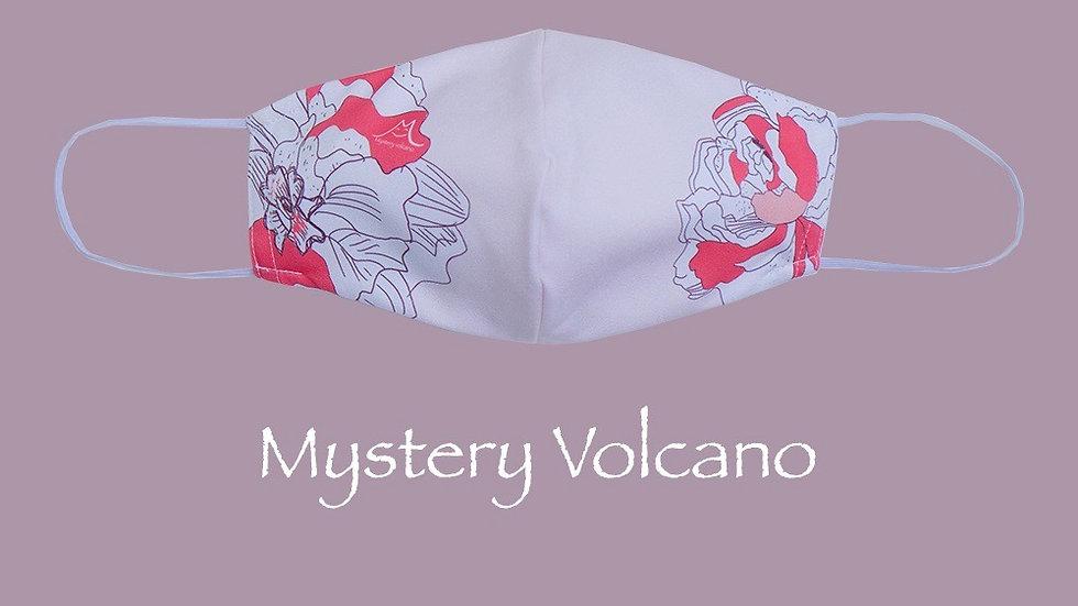 經典花卉口罩套 粉紅色